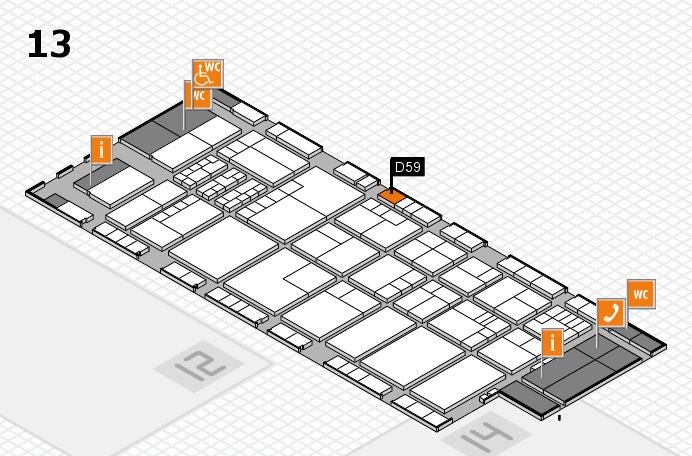 K 2016 hall map (Hall 13): stand D59