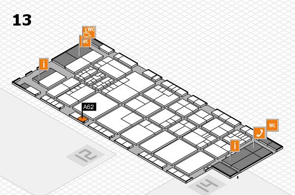 K 2016 hall map (Hall 13): stand A62