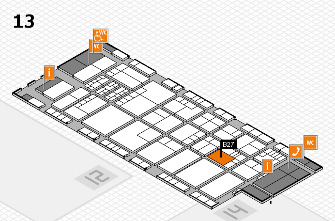 K 2016 hall map (Hall 13): stand B27
