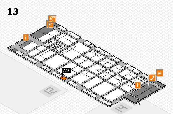 K 2016 hall map (Hall 13): stand A48