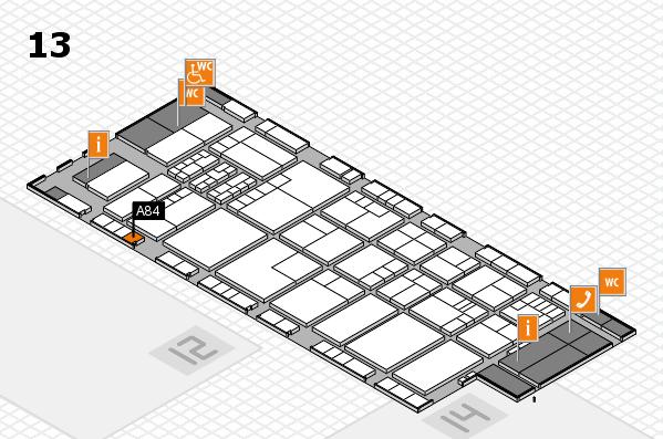 K 2016 hall map (Hall 13): stand A84