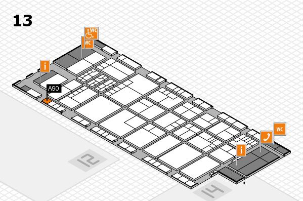 K 2016 hall map (Hall 13): stand A90