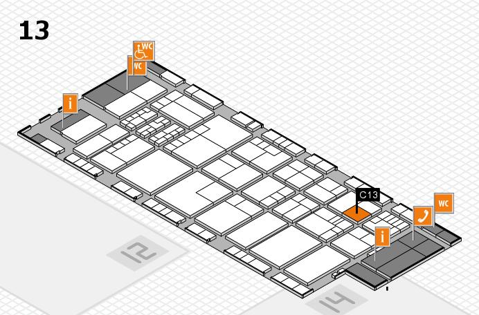 K 2016 hall map (Hall 13): stand C13
