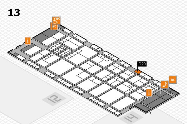 K 2016 hall map (Hall 13): stand D29