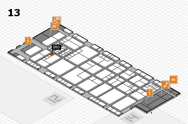 K 2016 hall map (Hall 13): stand B80