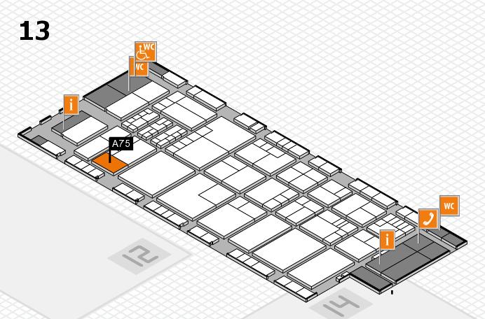 K 2016 hall map (Hall 13): stand A75