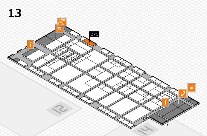 K 2016 hall map (Hall 13): stand D75