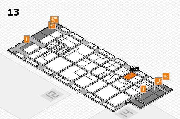 K 2016 Hallenplan (Halle 13): Stand D24