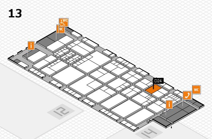 K 2016 hall map (Hall 13): stand D24