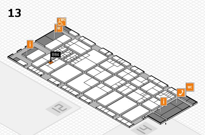 K 2016 Hallenplan (Halle 13): Stand B84