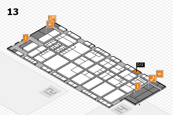 K 2016 hall map (Hall 13): stand D13