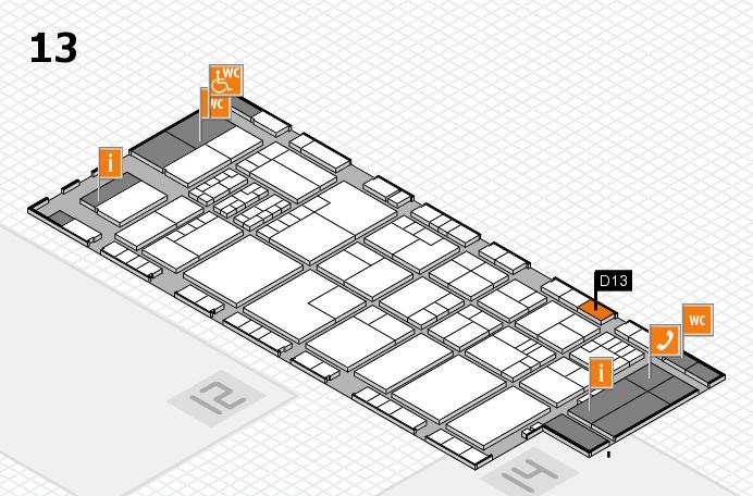 K 2016 Hallenplan (Halle 13): Stand D13