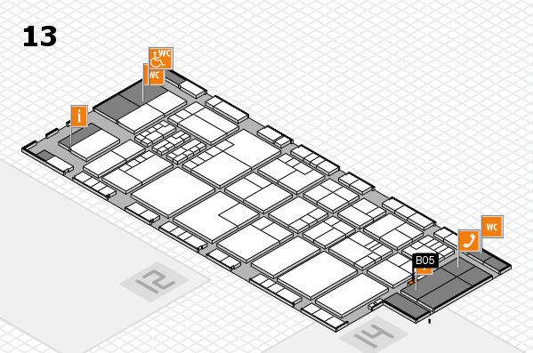 K 2016 hall map (Hall 13): stand B05