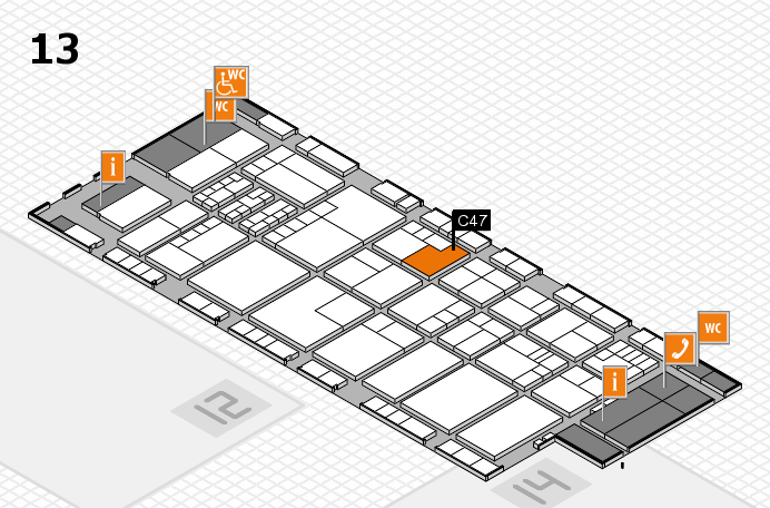 K 2016 hall map (Hall 13): stand C47