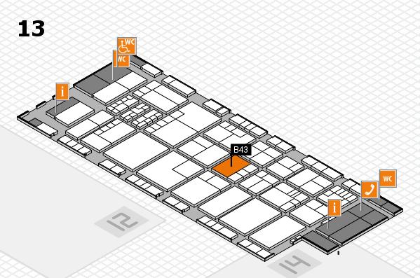 K 2016 hall map (Hall 13): stand B43