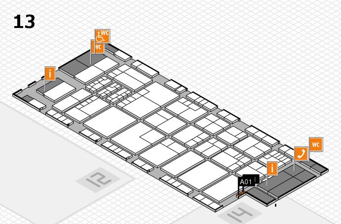 K 2016 Hallenplan (Halle 13): Stand A01