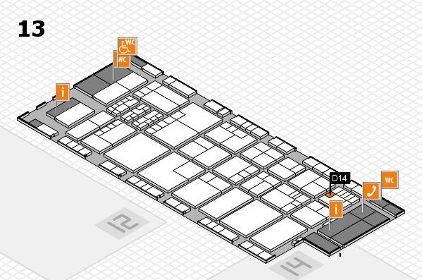 K 2016 hall map (Hall 13): stand D14