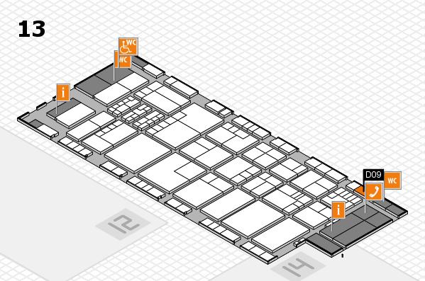 K 2016 hall map (Hall 13): stand D09