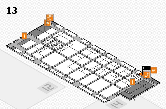 K 2016 Hallenplan (Halle 13): Stand D09
