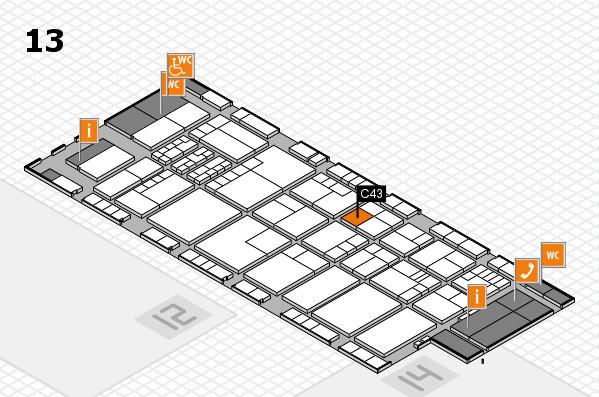K 2016 hall map (Hall 13): stand C43