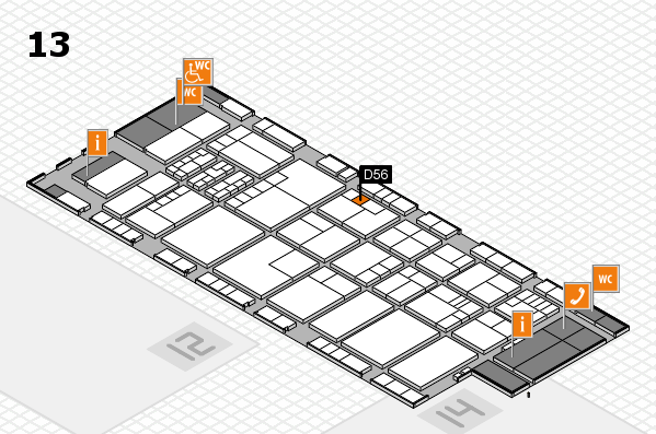 K 2016 Hallenplan (Halle 13): Stand D56