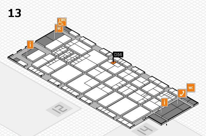 K 2016 hall map (Hall 13): stand D56