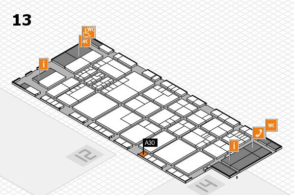 K 2016 hall map (Hall 13): stand A30