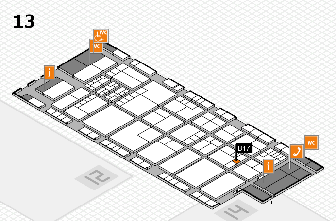K 2016 hall map (Hall 13): stand B17