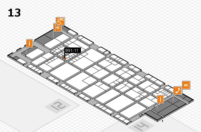 K 2016 hall map (Hall 13): stand B91-11