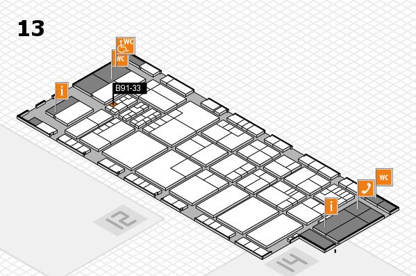 K 2016 hall map (Hall 13): stand B91-33
