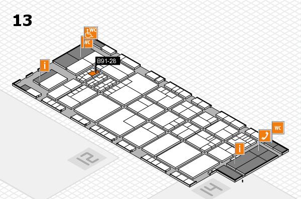 K 2016 hall map (Hall 13): stand B91-28
