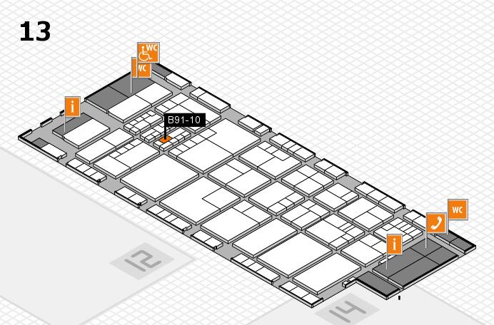 K 2016 hall map (Hall 13): stand B91-10