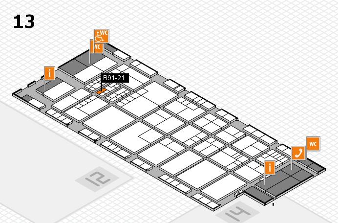 K 2016 hall map (Hall 13): stand B91-21