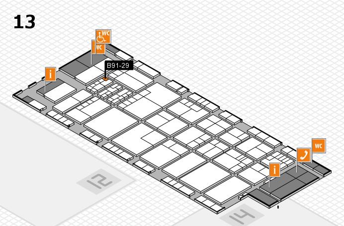K 2016 hall map (Hall 13): stand B91-29