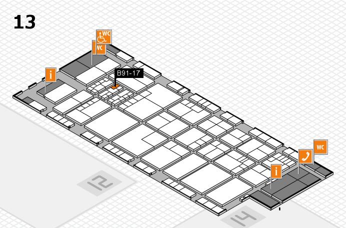 K 2016 hall map (Hall 13): stand B91-17