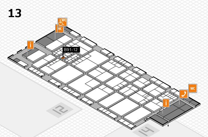 K 2016 hall map (Hall 13): stand B91-12