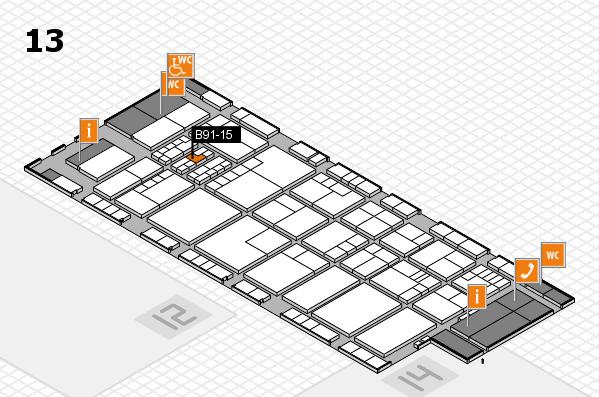 K 2016 Hallenplan (Halle 13): Stand B91-15