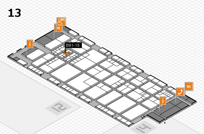 K 2016 hall map (Hall 13): stand B91-15