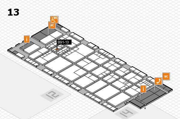 K 2016 hall map (Hall 13): stand B91-13
