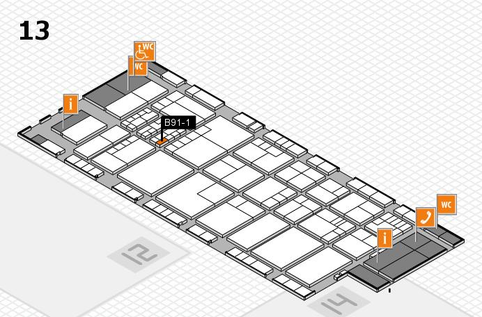K 2016 hall map (Hall 13): stand B91-1