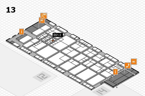 K 2016 hall map (Hall 13): stand B91-3