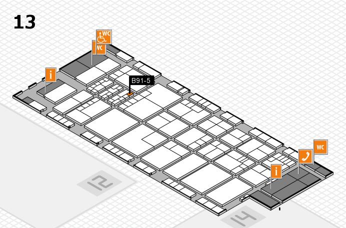 K 2016 hall map (Hall 13): stand B91-5
