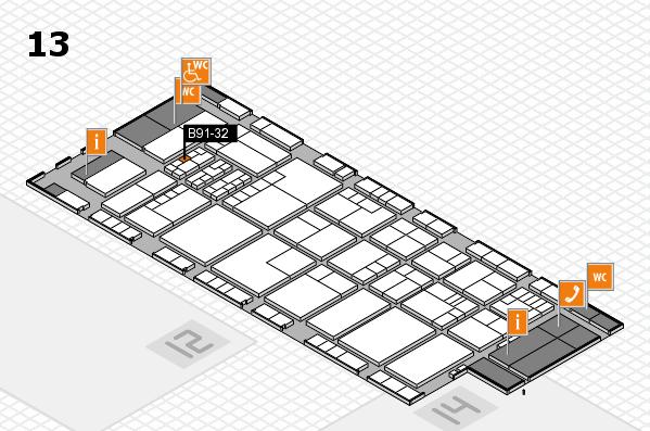 K 2016 hall map (Hall 13): stand B91-32