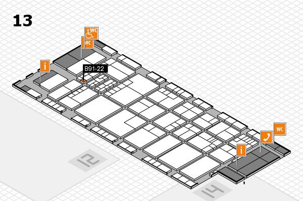 K 2016 hall map (Hall 13): stand B91-22