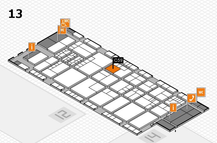 K 2016 hall map (Hall 13): stand C59