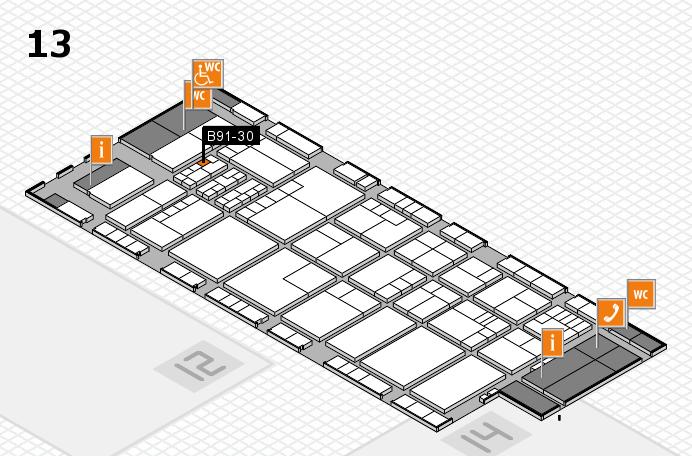 K 2016 hall map (Hall 13): stand B91-30