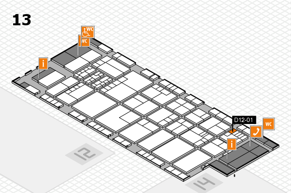 K 2016 hall map (Hall 13): stand D12-01