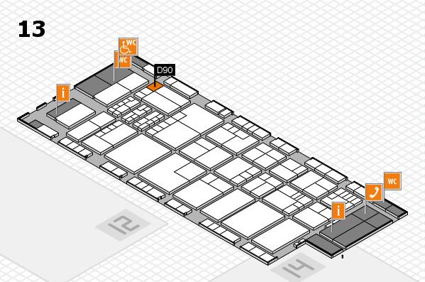 K 2016 Hallenplan (Halle 13): Stand D90