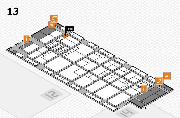 K 2016 hall map (Hall 13): stand D90