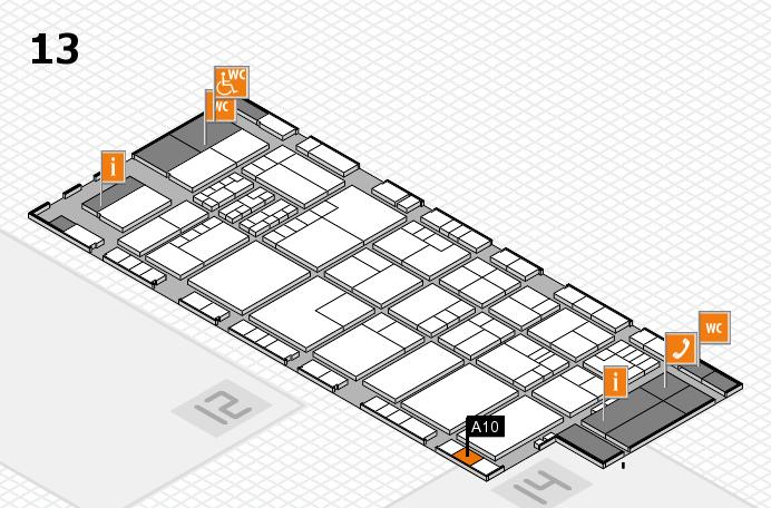 K 2016 hall map (Hall 13): stand A10